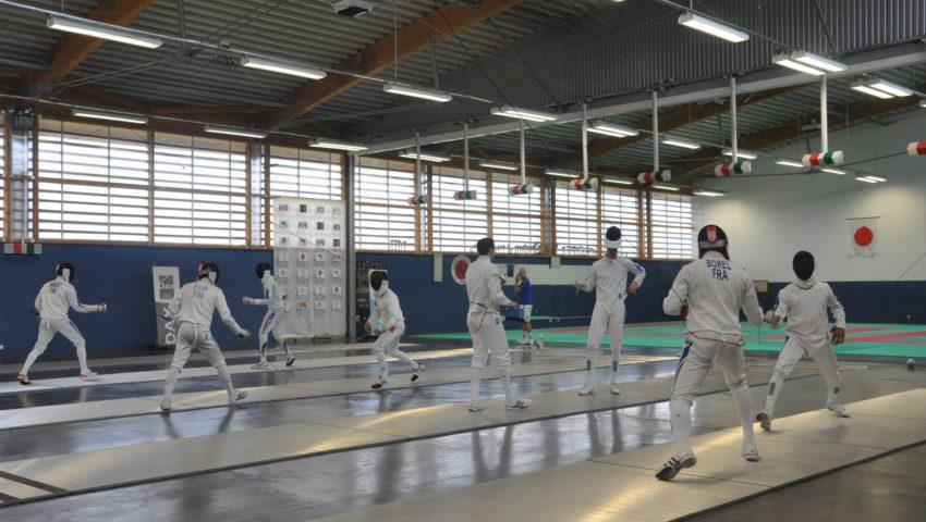 2012 Dax Equipe de France salle d'armes
